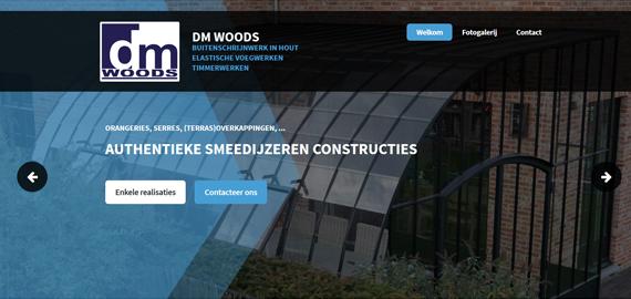 DM Woods - Buitenschrijnwerk in hout, elastische voegwerken, timmerwerken, eikenhouten constructies, smeedijzeren constructies (orangerie, serres, ...), veranda's, ... - www.dmwoods.be