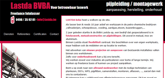 Lastda - Freelance fotolasser - Voor betrouwbaar laswerk - Brecht - www.lastda.be