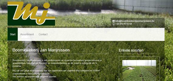 Boomkwekerij Jan Marijnissen - Ontwerp, aanleg en onderhoud van tuinen - Groenblijvende haagplanten, heesters en bodembedekkers - www.boomkwekerijjanmarijnissen.be